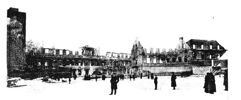 Spalona fabryka Henryka Schlössera