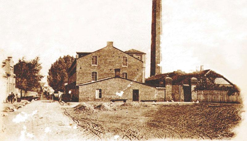 Fabryka włókiennicza Wilhelma Fryderyka Zacherta - zdjęcie archiwalne
