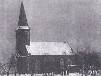 Nieistniejący kościół ewangelicko-augsburski w Andrzejowie - zdjęcie archiwalne