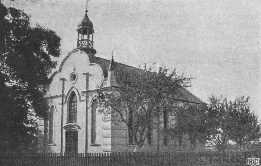 Kościół ewangelicki z Łaznowskiej Woli - zdjęcie archiwalne