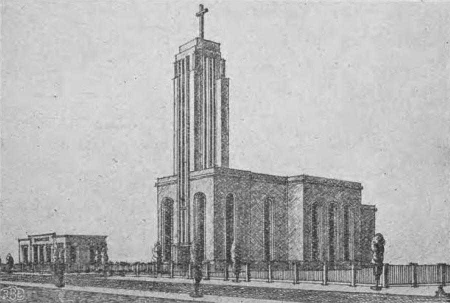 Projekt kościoła ewangelickiego w Radogoszczu
