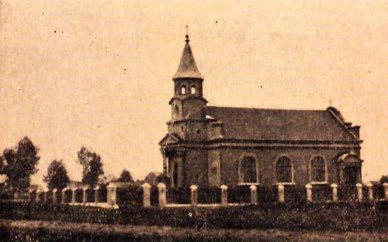 Kościół w Zelowie w pierwszych latach swego istnienia - zdjęcie archiwalne